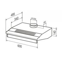 greta wh hotte casquette 60 cm beldeko electromenager. Black Bedroom Furniture Sets. Home Design Ideas
