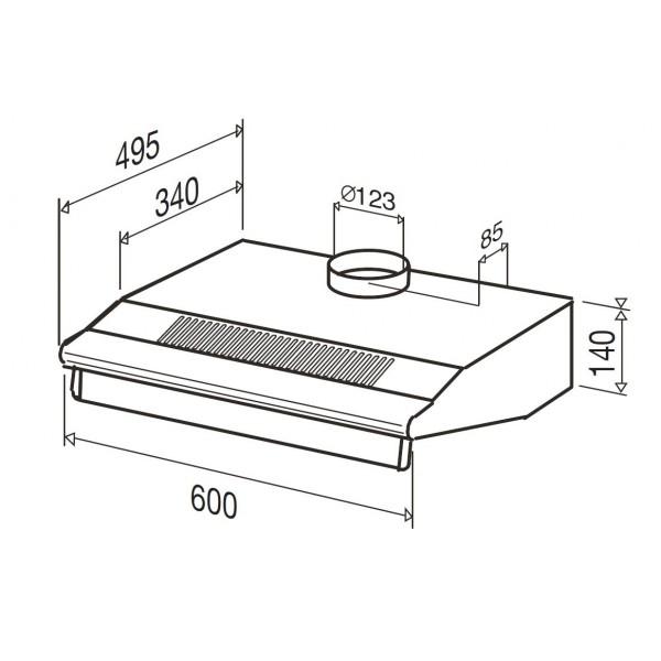 greta plus xs hotte casquette 60 cm beldeko electromenager. Black Bedroom Furniture Sets. Home Design Ideas
