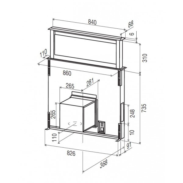 licena 90 hotte tiroir 90 cm plan de travail beldeko. Black Bedroom Furniture Sets. Home Design Ideas